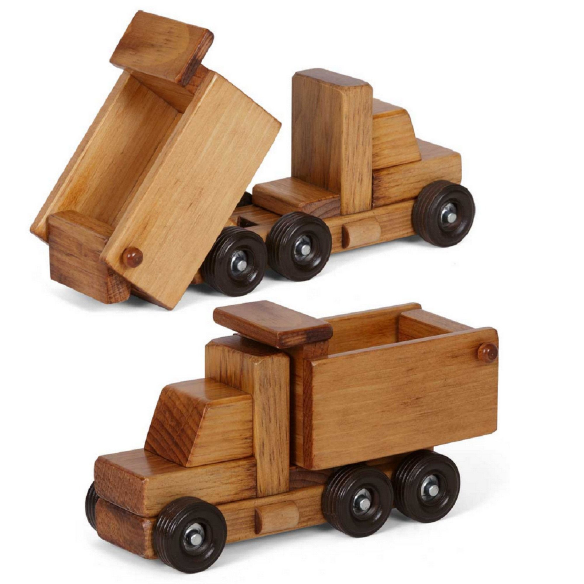 amish handmade dump truck working wood toy this is an excellent working toy dump truck made with unrivaled a beautiful piece for play and - Toy Dump Trucks