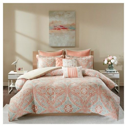 For A Modern Update To Your Bedroom The Jessie 8 Piece Duvet Cover Set Can Provide A Whole New Look An Intricate Conjunto De Edredom Capa De Edredon Bed Sets