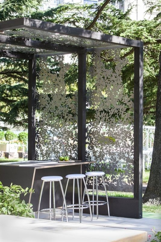 Laser Cut Outdoor Panels Modern Patio, Outdoor Spaces, Outdoor Decor,  Outdoor Living,