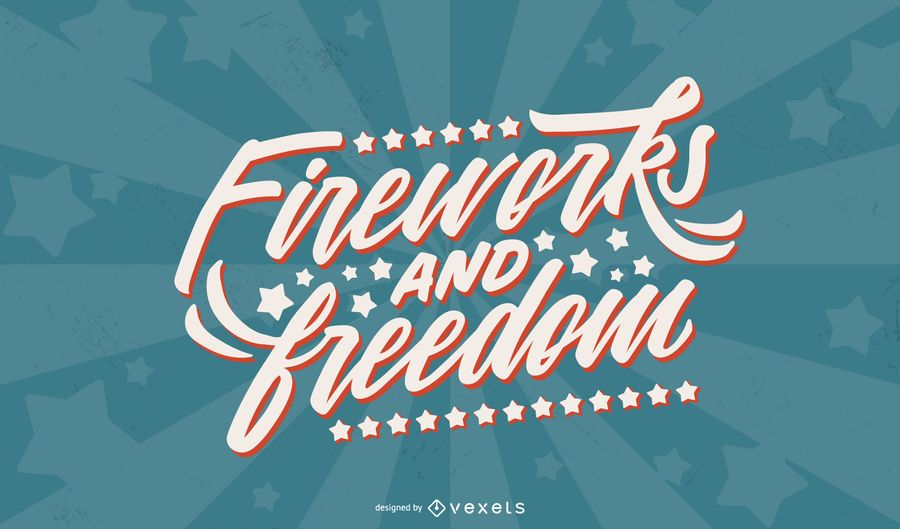 Fireworks And Freedom Lettering Ad Ad Sponsored Lettering Freedom Fireworks Lettering Creative Flyer Design Lettering Design