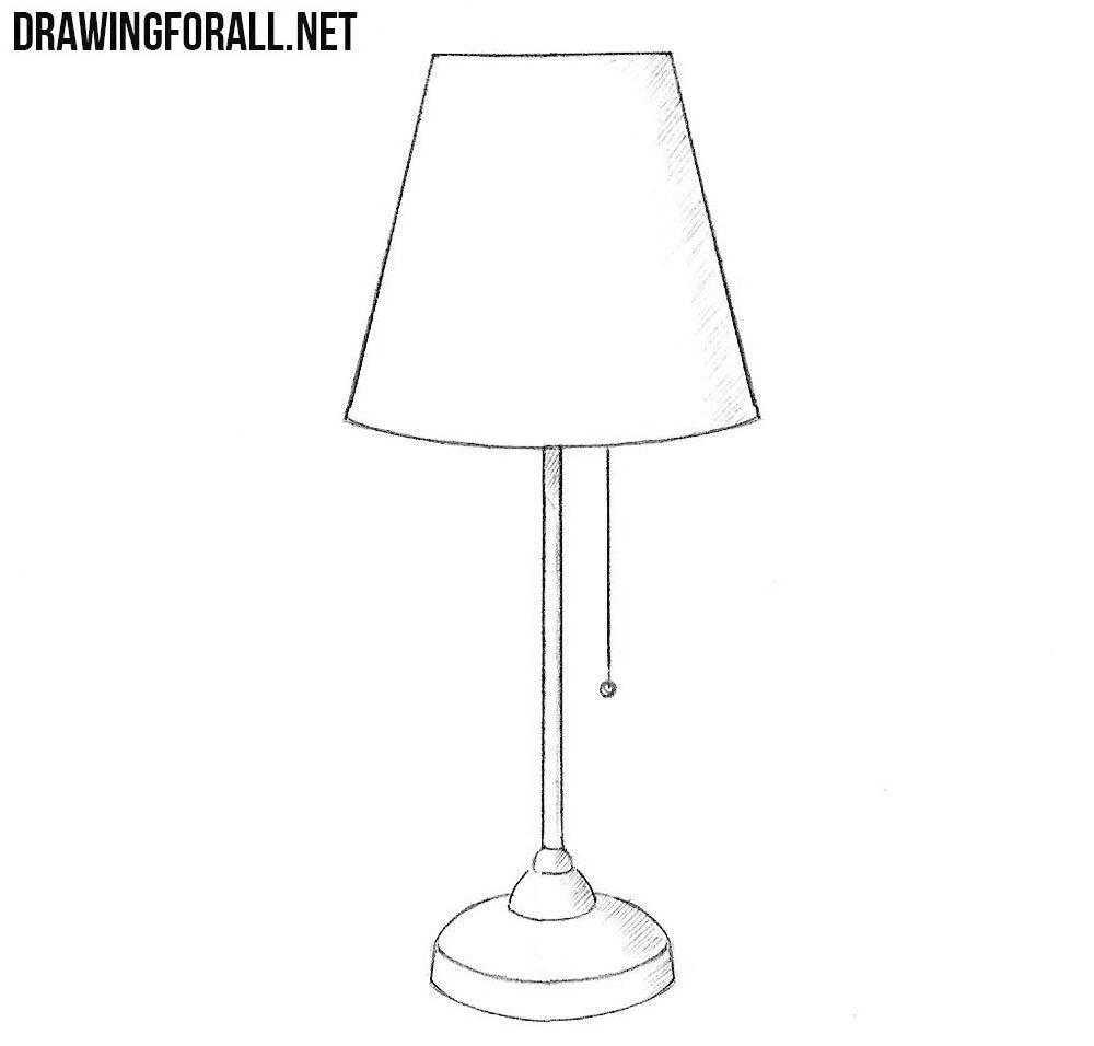 How To Draw A Lamp Draw Lamp In 2020 Lamp Glass Lamp Lamp Logo