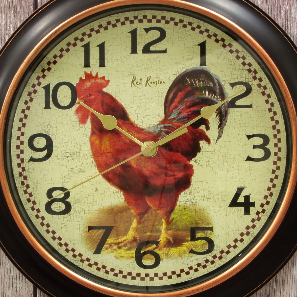 Rooster Rotterdam Resin Kitchen Wall Clock | Pinterest | Wall clocks