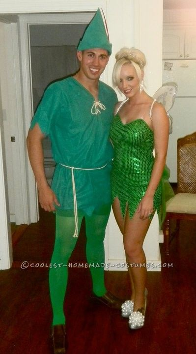 best peter pan and tinkerbell couple halloween costume this website is the pinterest of costumes