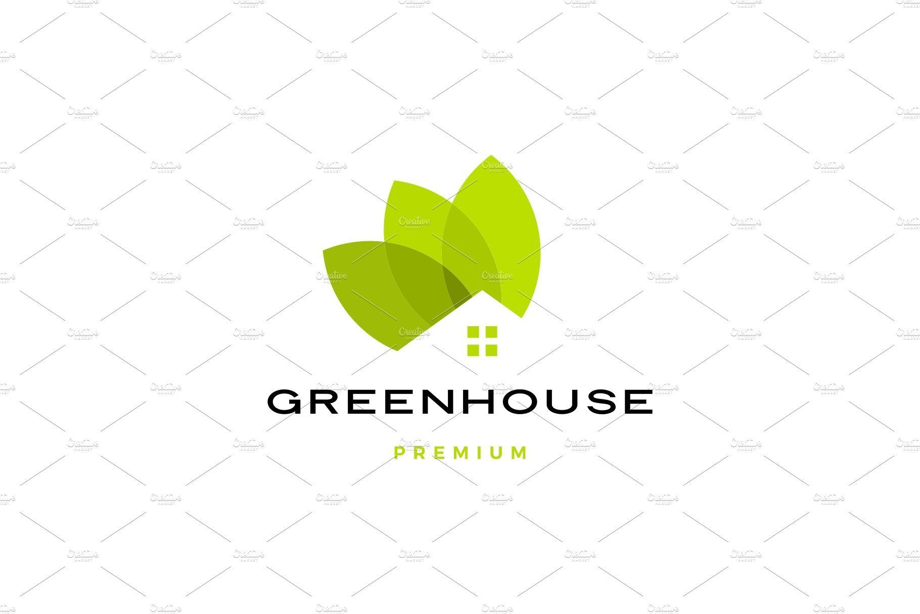 Green House Leaf Roof Logo Vector In 2020 Startup Logo Design Startup Logo Vector Logo