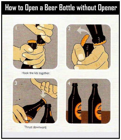 open a beer bottle without 514 593 assignments pinterest beer bottles beer. Black Bedroom Furniture Sets. Home Design Ideas