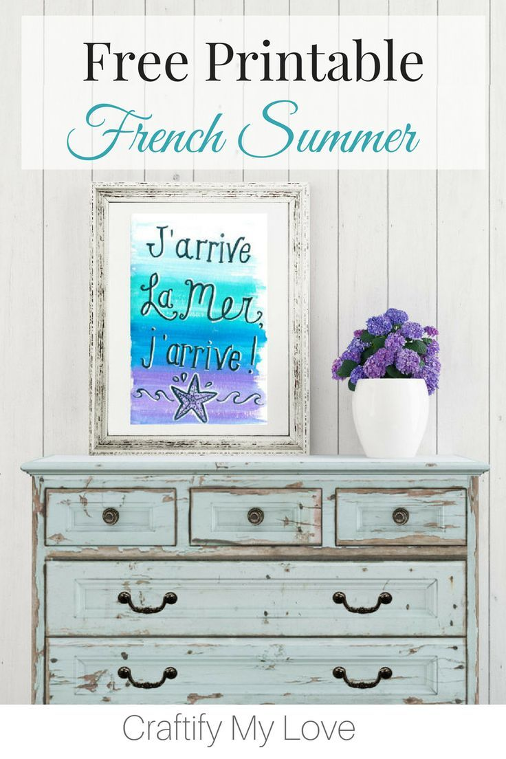 Photo of Free Summer Printable: J'arrive La Mer, J'arrive!
