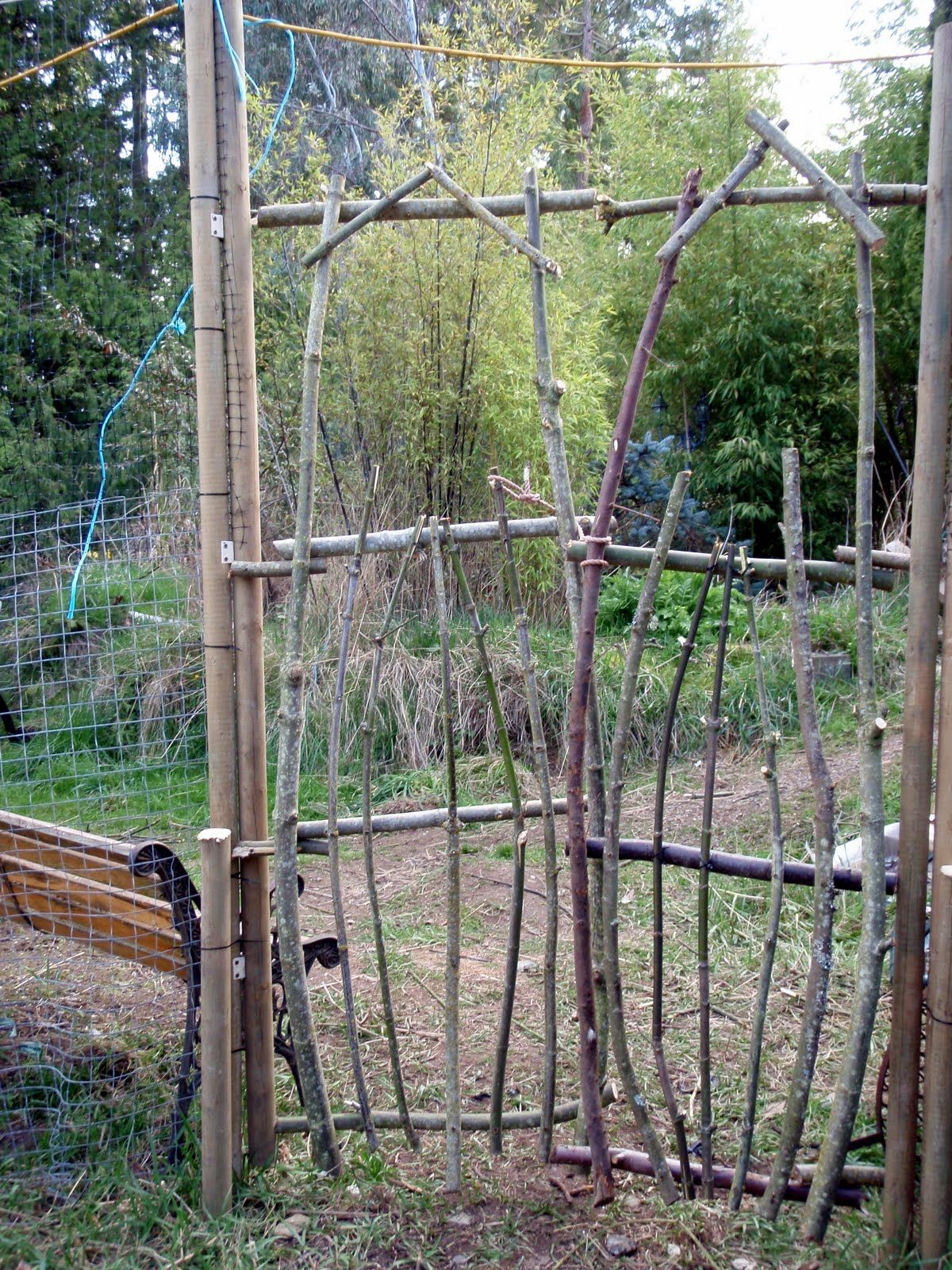 Rustic Garden Projects | Pretty Rustic, Eh? This Is Looking At The Gate From