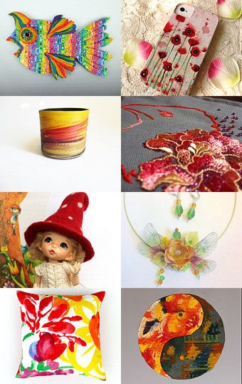 Spring colors for Mom/couleurs de printemps pour Maman by Patricia Deley on Etsy--Pinned+with+TreasuryPin.com