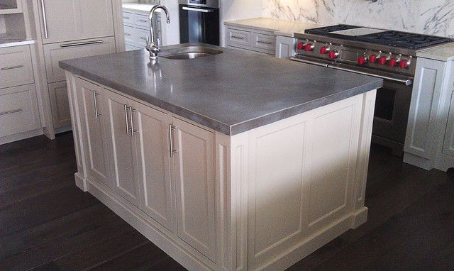 Image Result For Zinc Countertop Island