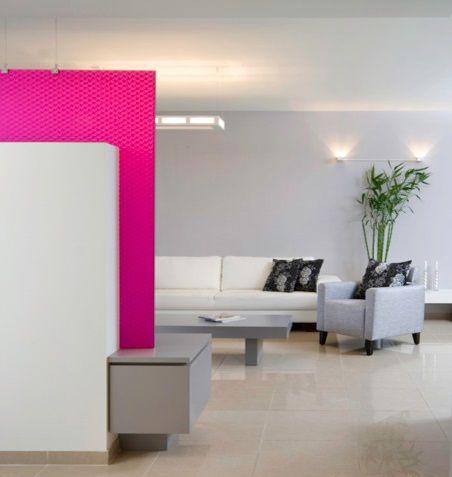 Hilit Interior Design | magenta wall | Magenta walls ...