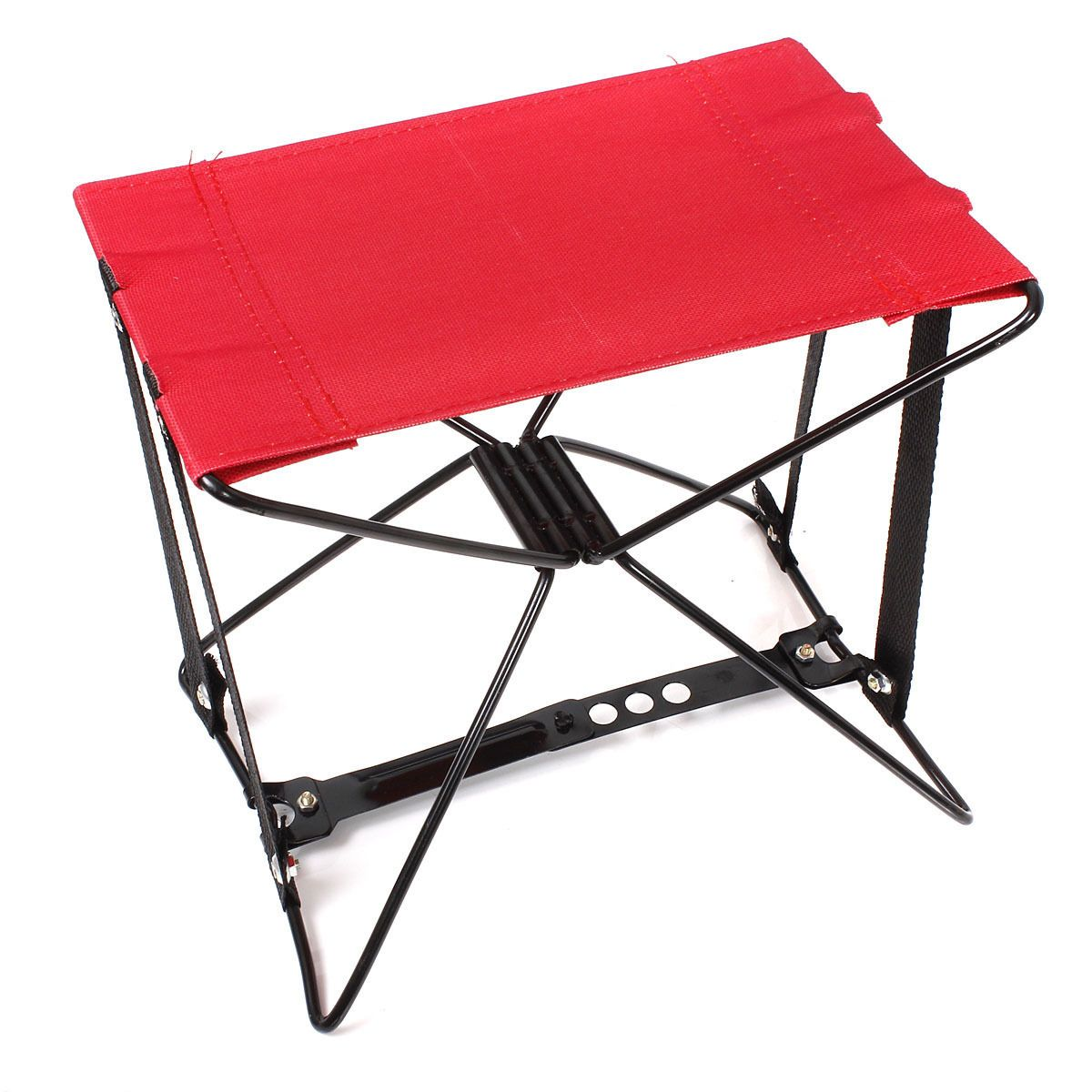 Portable U0026 Pocket Folding Camping Beach Fishing Chair Foldable Seat Stool  Red