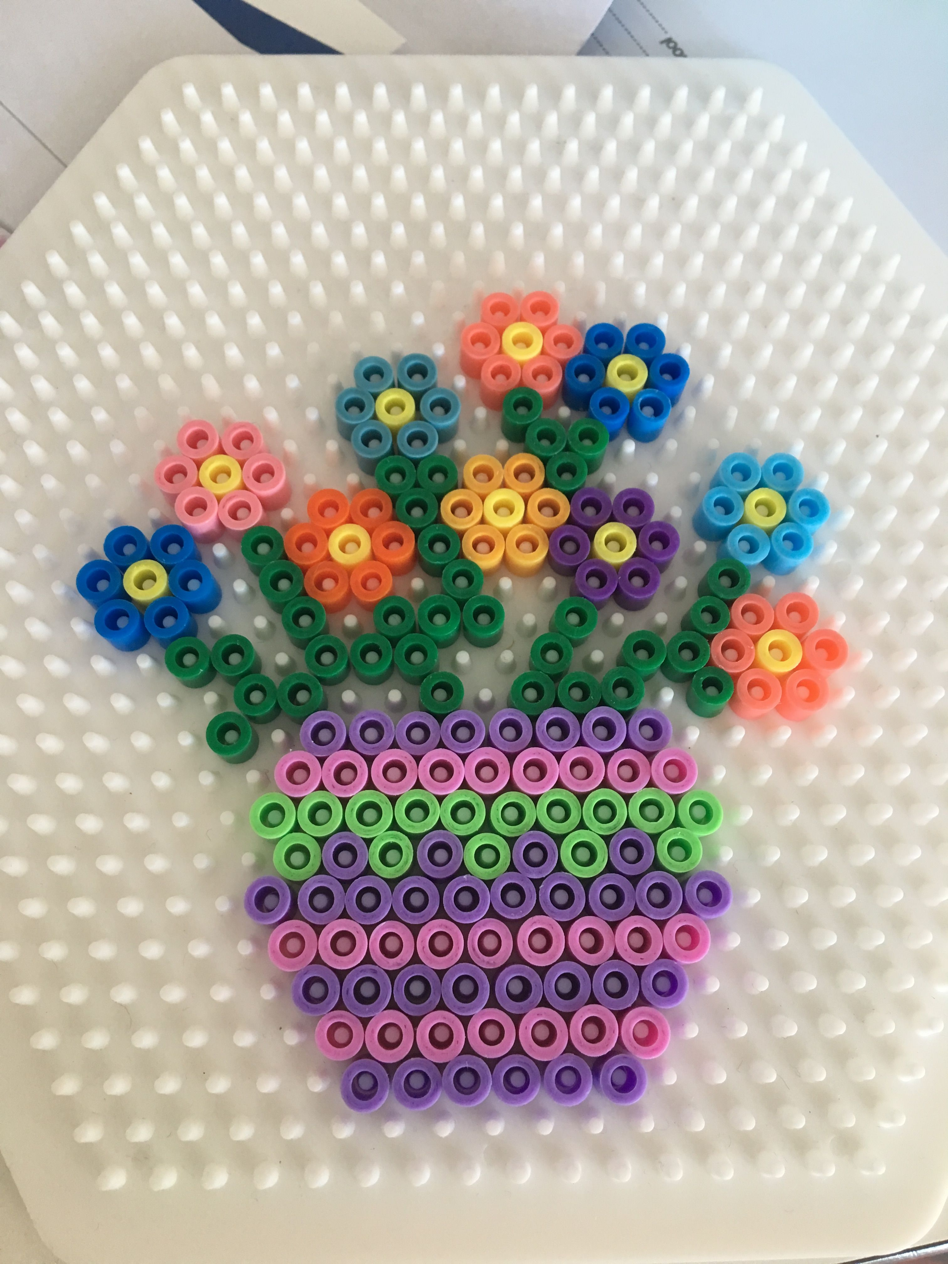 Flower vase hama bead design perfect for mothers day pyssla flower vase hama bead design perfect for mothers day reviewsmspy