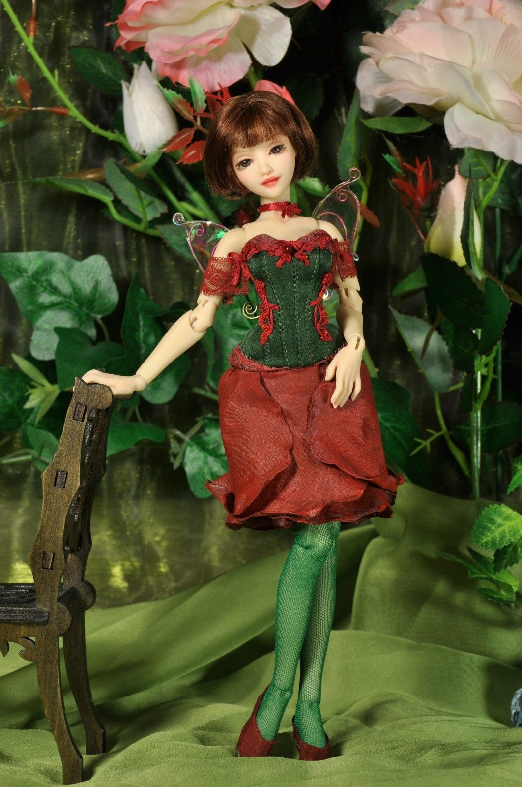 """OOAK design resin BJD doll """"Rose"""" by Sister Fox"""