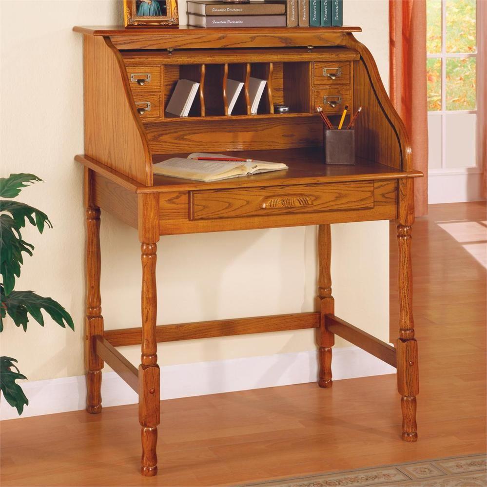 Cheap Roll Top Desk Coaster Furniture Secretary Desks Diy