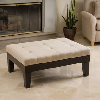 Christopher Knight Home Chatham Ivory Linen Storage Ottoman - Overstock™ Shopping - Great Deals on Christopher Knight Home Ottomans