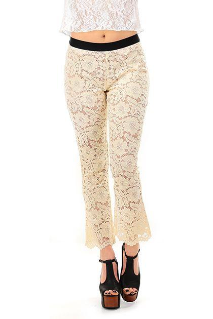 reputable site 61082 e89a5 Pantaloni Ecru Twin SET | TWIN SET Simona Barbieri Clothing ...