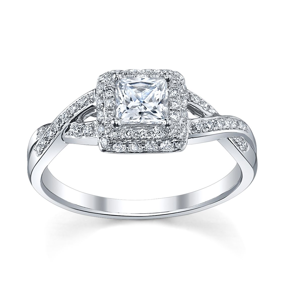 6 Princess Cut Engagement Rings She'll Love | Halo, Vintage and ...