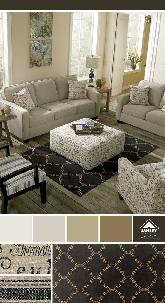 Mixing Fabrics And Patterns Alenya Sofa Ashley Furniture Homestore Ashley Furniture Furniture Sofa Set