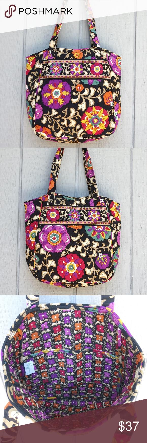 Vera Bradley Black Floral Quilted Tote Bag Like NU : quilted bags like vera bradley - Adamdwight.com
