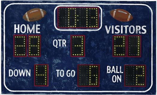 Football Scoreboard Wall Mural - Wallpaper & Border | Wallpaper