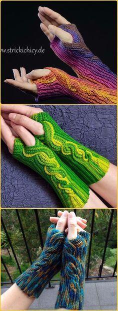 25 Crochet Fingerless Gloves Wrist Warmer Free Patterns - Nora #scarves