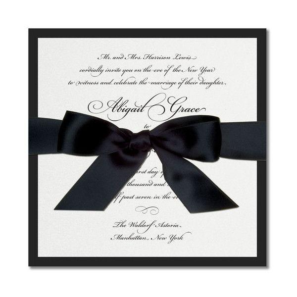Black White Wedding Invitation Black And White Wedding Invitations White Wedding Invitations Wedding Invitation Ribbon
