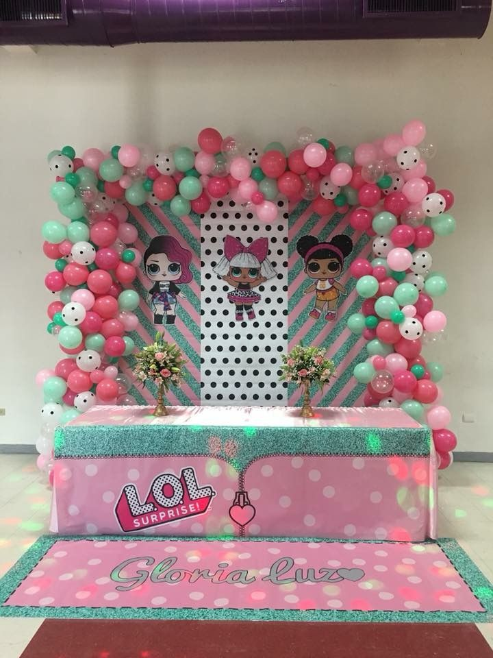 Lol Surprise Dolls Backdrop And Balloon Arch Fiestas Infantiles