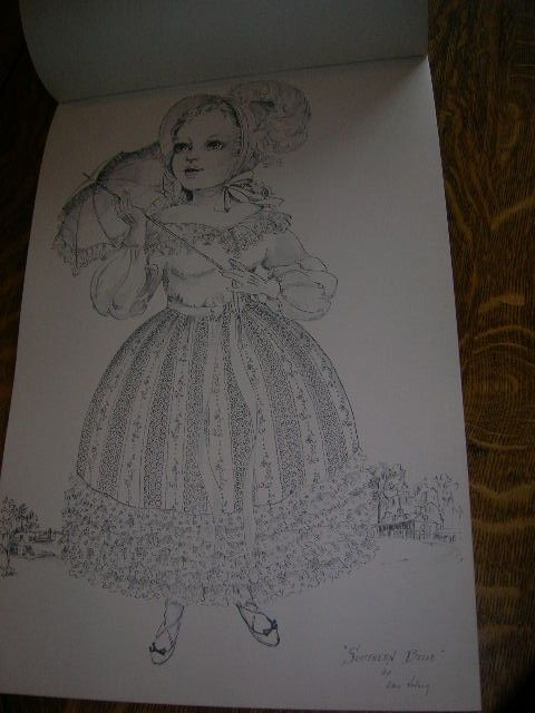 Vintage The Heritage Doll Coloring Book Red Farm Studios