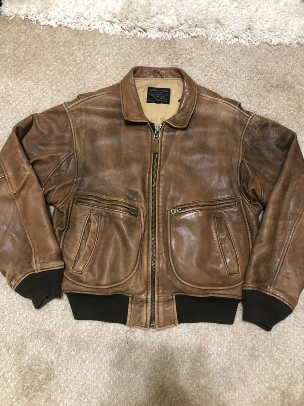 Pin on AVIREX LEATHER jackets