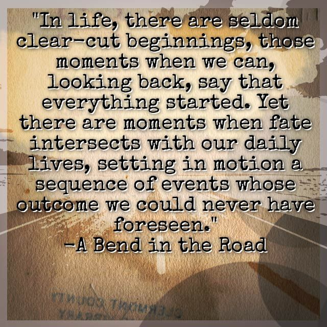 In road the book a bend