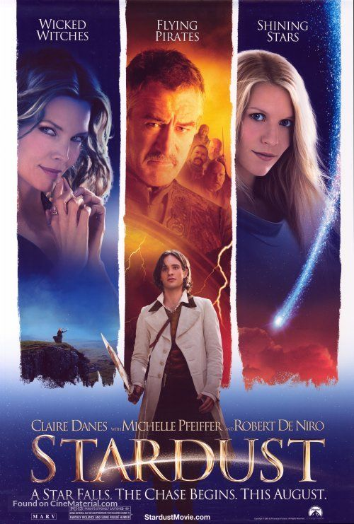 ''Stardust - STARDUST'' 2007 U.S movie poster. (A STAR FALLS. THE CHASE BEGINS. THIS AUGUST.). (25d).