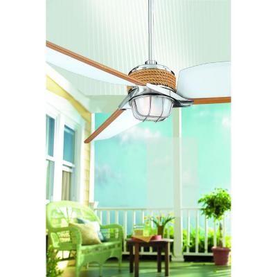 Outdoor patio fan  Hampton Bay Escape 68 in. Indoor/Outdoor Brushed Nickel Ceiling Fan-34314 - The Home Depot