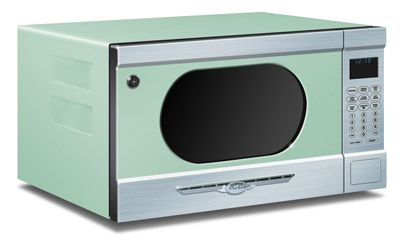 Mint Green Northstar Retro Microwave