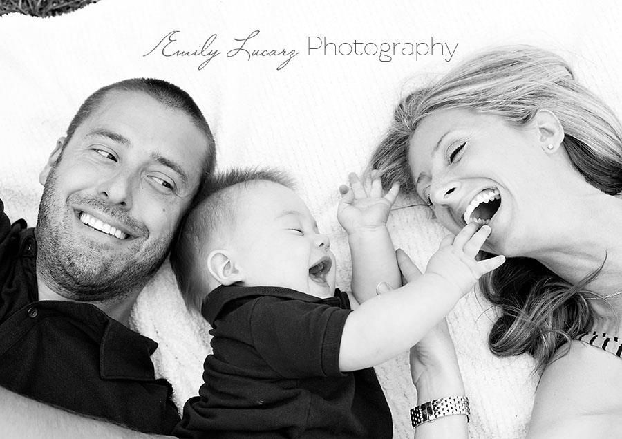 sweet happy playful family pic