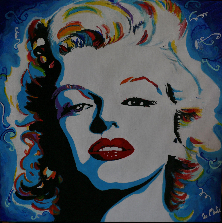 Marilyn Monroe - Acrilico 50x50 - © STEFANIA MULE\' | Quadri di ...