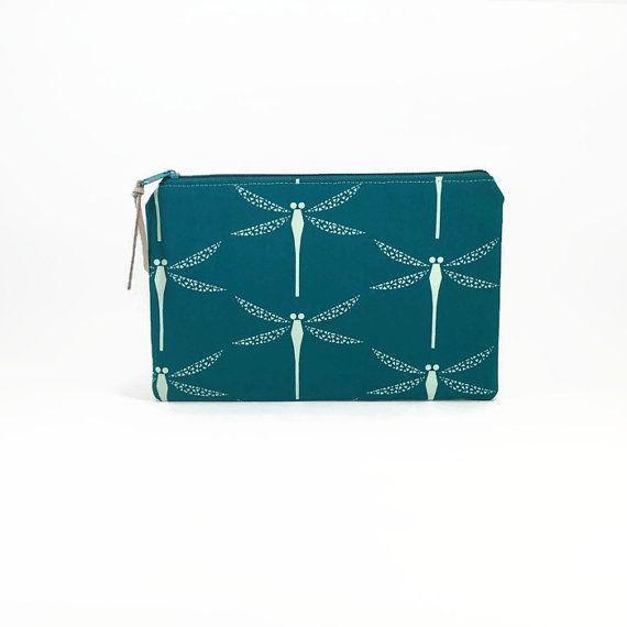 Clutch wallet, Women wallet, Dragonfly, Purse organiser, Zipper clutch, Clutch zipper bag, Clutch purse, Dragonflies, Clutch Zipper pouch