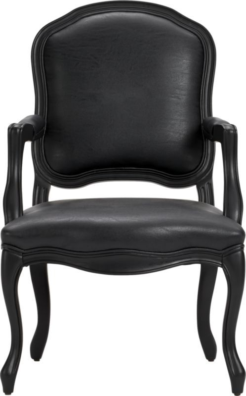 Stick Around Black Arm Chair  Cb2  Office  Pinterest  Modern Prepossessing Leather Dining Room Chairs With Arms Decorating Inspiration