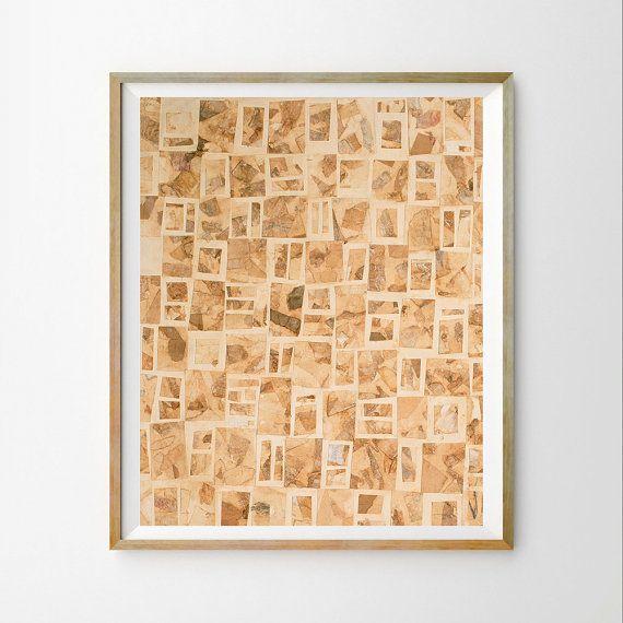 Brown paper art print Modern abstract wall print Diy wall art ...