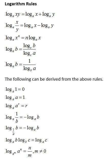 Logarithm Rules (video lessons, examples and solut