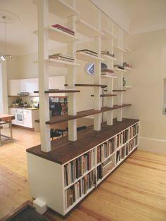 room divider bookshelf   vertical space   pinterest