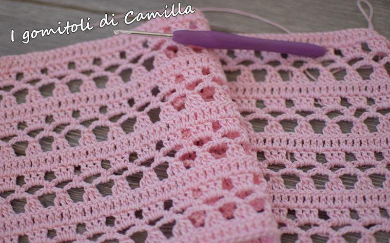 Punto Traforato Con Archi A Uncinetto Crochet Scarves