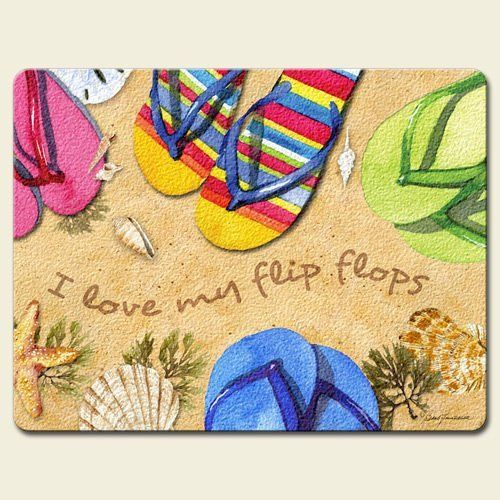 It's a Flip Flop Kind of Day Summer Fun Tempered Glass Large Cutting Board by Highland Graphics, http://www.amazon.com/dp/B007WT77RG/ref=cm_sw_r_pi_dp_ZeDWrb0QZN6TC