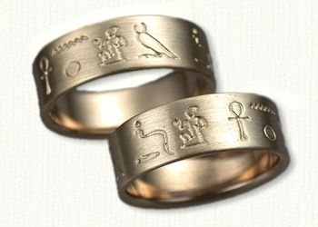 custom story wedding rings affordable unique wedding rings engagement rings create your own story band at designet - Egyptian Wedding Rings