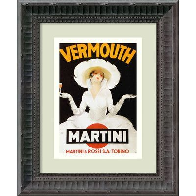 Amanti Art 'Vermouth Martini (ca. 1918)' by Marcello Dudovich Framed Vintage Advertisement