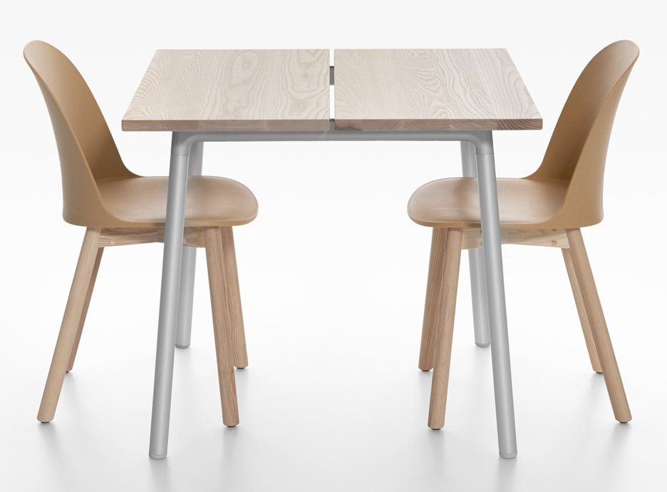 Industrial Facility designs planktopped tables for Emeco Dining