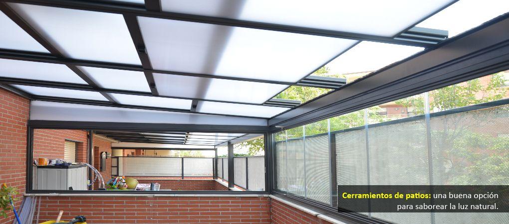Cerramientos para patios en zaragoza cerramiento terraza Fotos de techos para patios