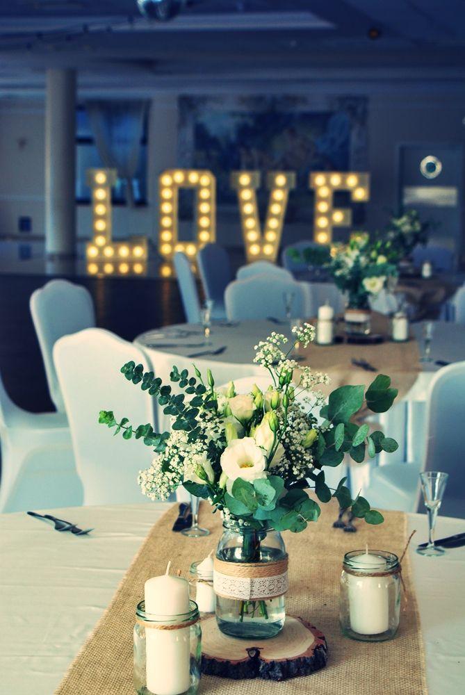 Rustykalne Bukiety Na Stoly Wystroj Sal Weselnych Wedding Decorations Table Decorations Dream Wedding
