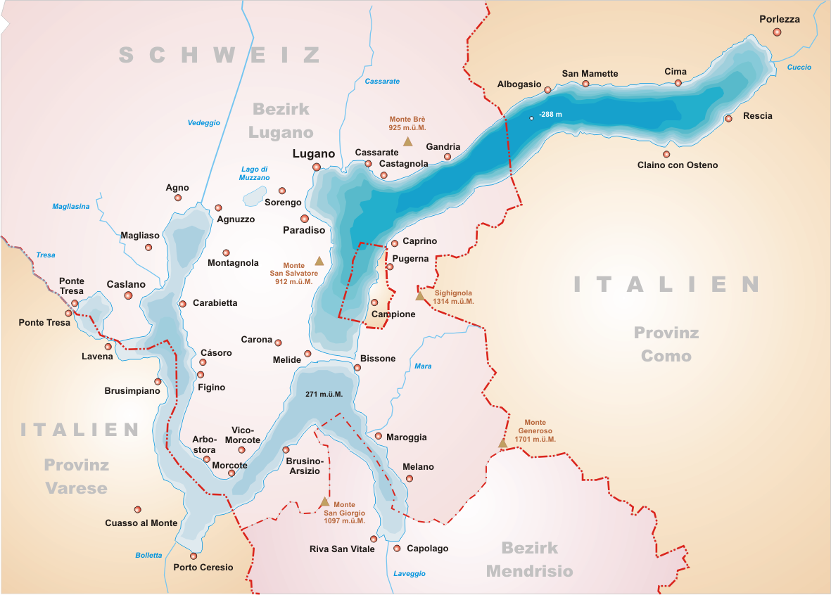 Campione du0027Italia an exclave of Italy within