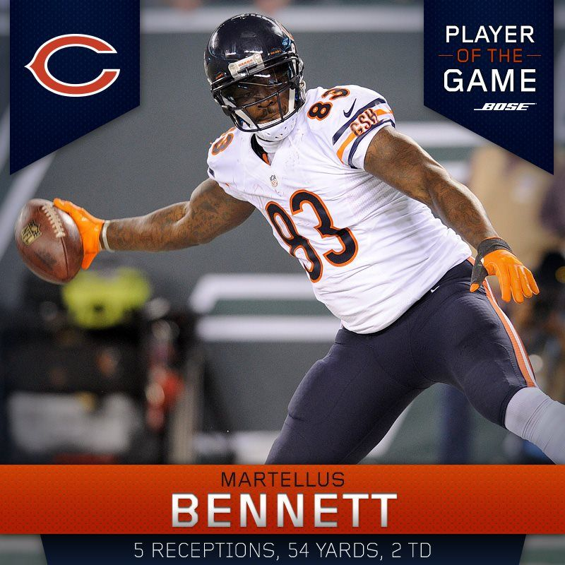 TE Martellus is named the Bose Player of the Game