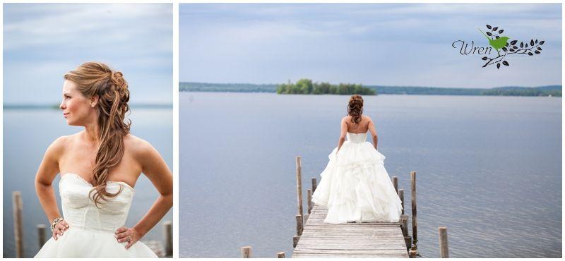 Lakeside spring wedding.